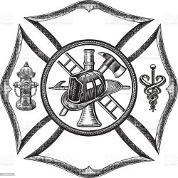 fire symbol department firefighter vector retro cross maltese pompiers symbols paramedic istock disasters tattoo tattoos only