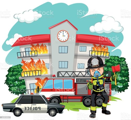 small resolution of adult clip art computer graphic crime scene cutting fire fighter at the fire station royalty free