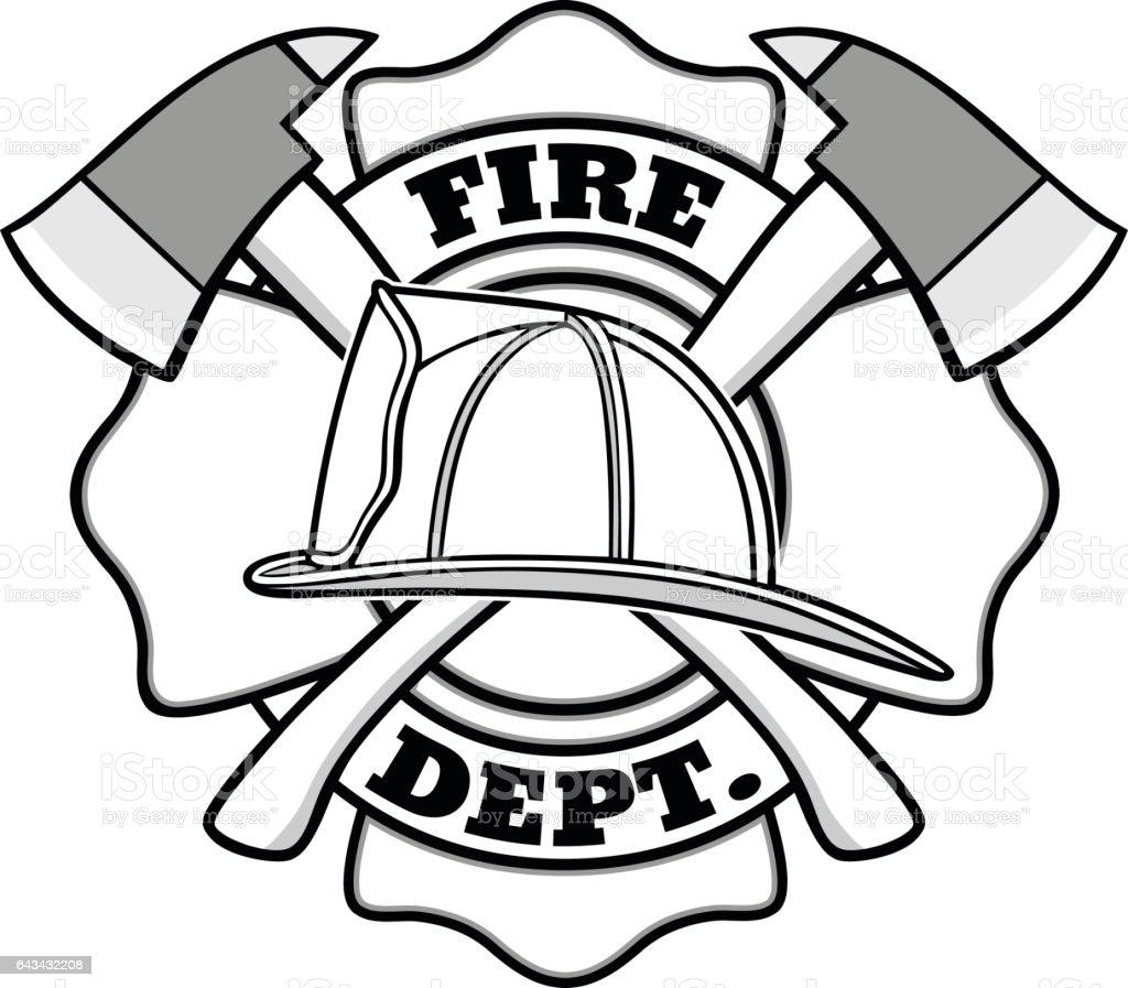 Firefighter Badge Illustration stock vector art 643432208