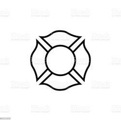 firefighter vector emblem icon shield fireman fire department symbol cross clip maltese illustration badge volunteer illustrations royalty vectors similar crest