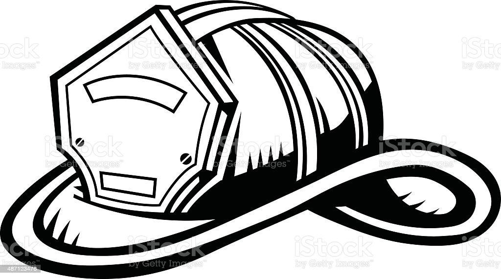 Firefighter Helmet Stock Vector Art & More Images of 2015