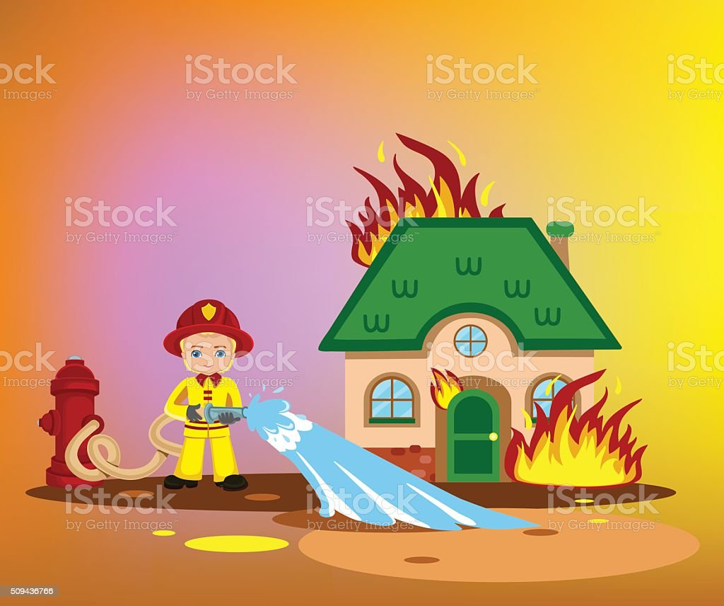 Put To Extinguish A Fire Illustrations. Royalty-Free Vector Graphics & Clip Art - iStock