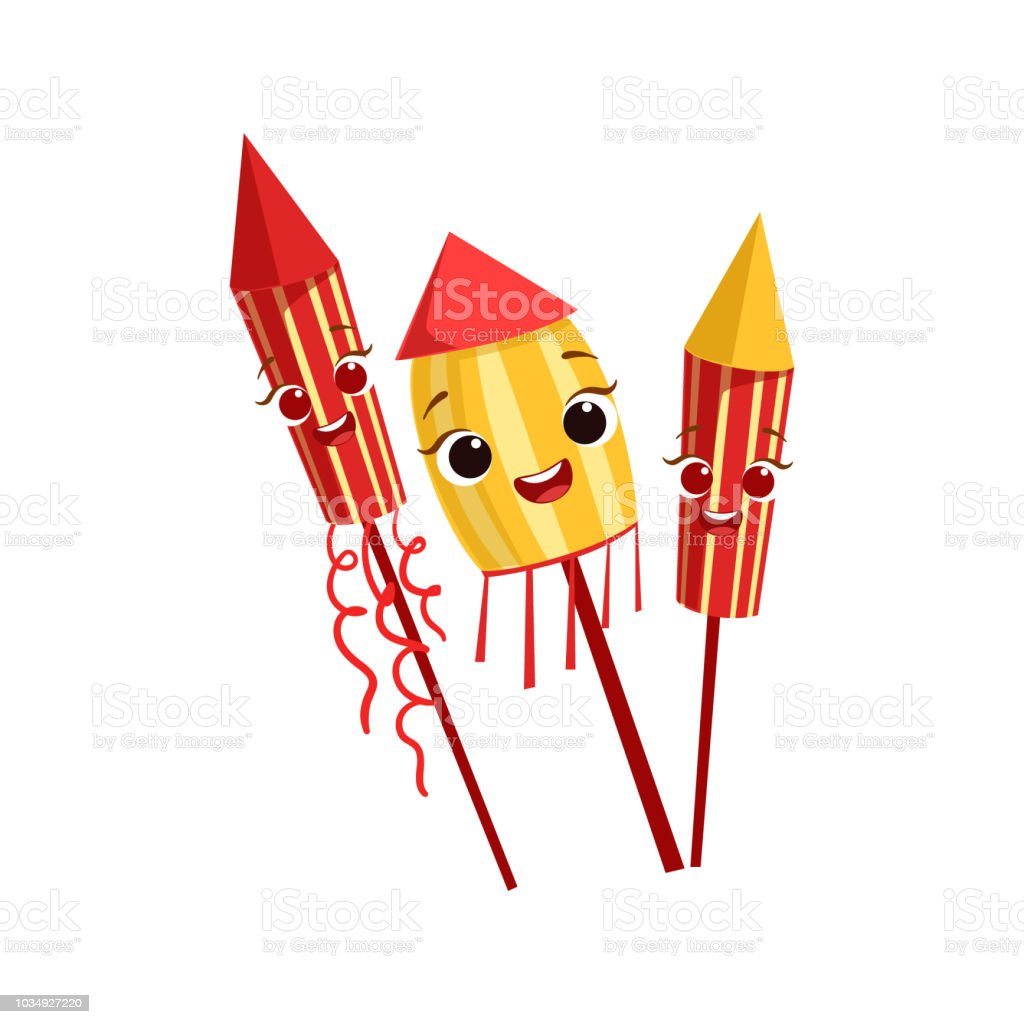hight resolution of fireworks kids birthday party happy smiling animated object cartoon girly character festive illustration illustration