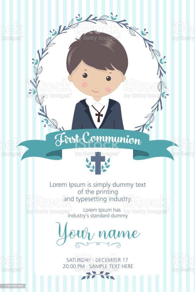 first communion invitation free vector art 40 free downloads