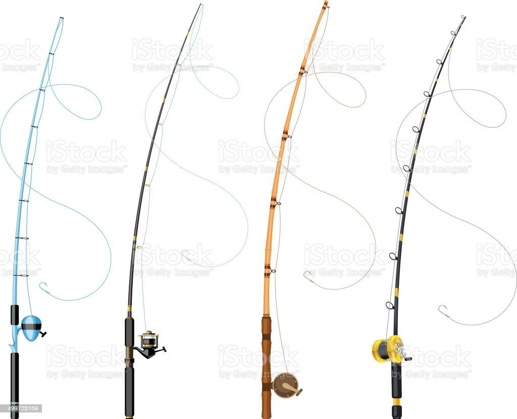 hight resolution of fishing poles illustration