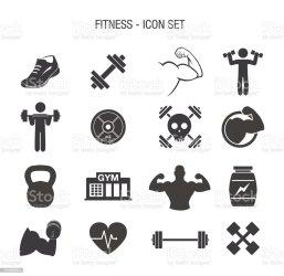 Fitness Icon Set Stock Illustration Download Image Now iStock