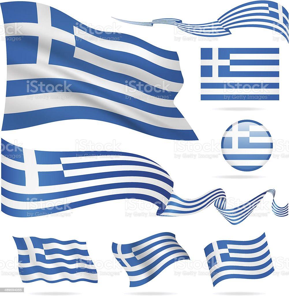 Griechische Flagge Zum Ausdrucken
