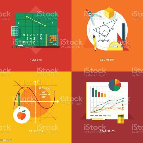 Flat Concepts Algebra Geometry Calculus Statistics
