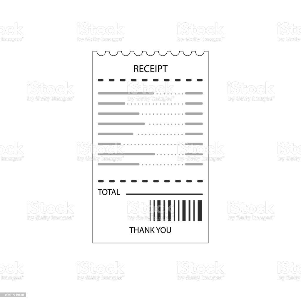 Flat Design Of Blank Receipt Stock Vector Art & More