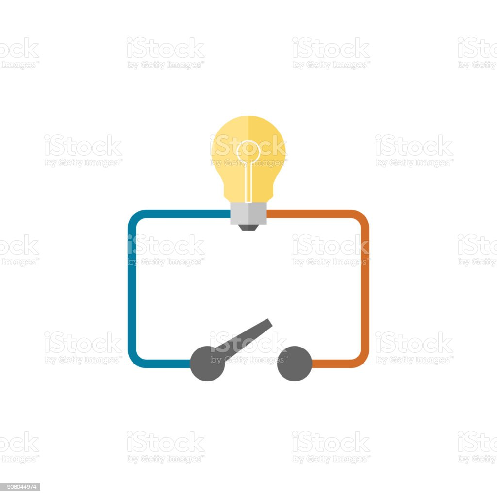 hight resolution of flat icon switch diagram stock vector art more images of battery 12v switch wiring diagram icon switch wiring diagram