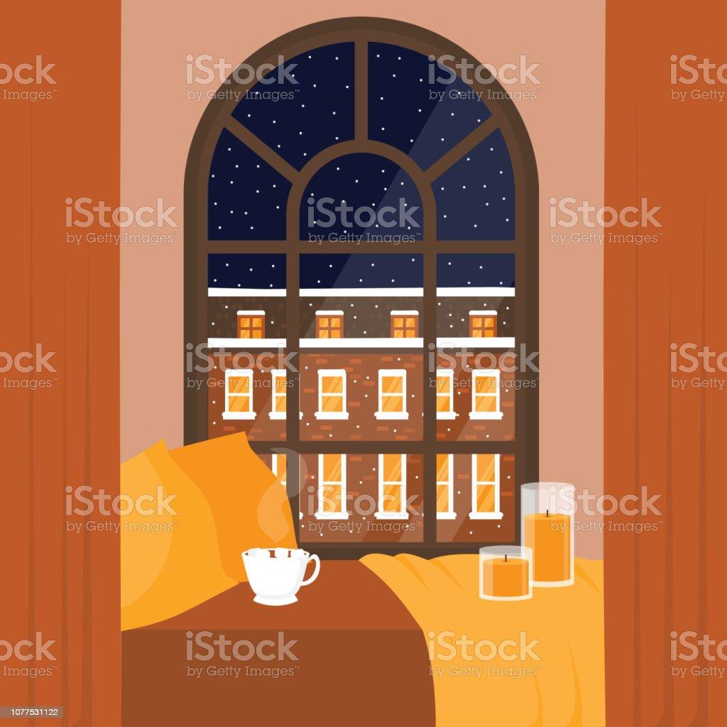 royalty free windowsill night clip