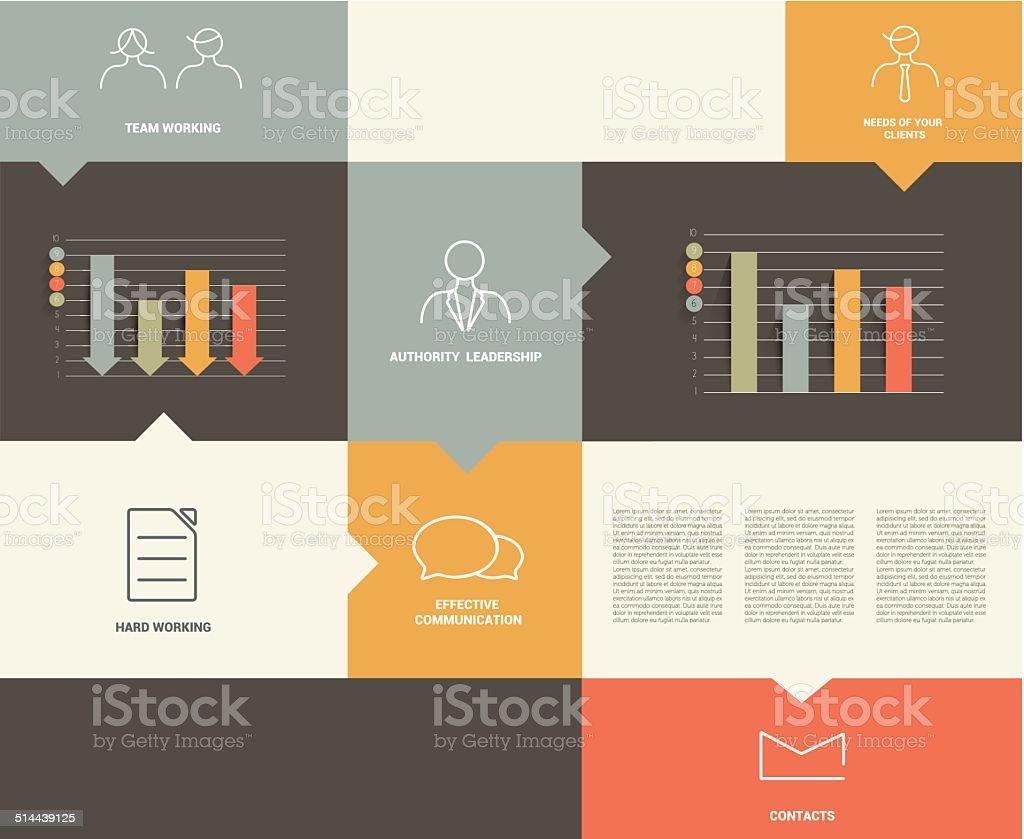 hight resolution of piatto rettangolo di diagramma per infografiche illustrazione royalty free