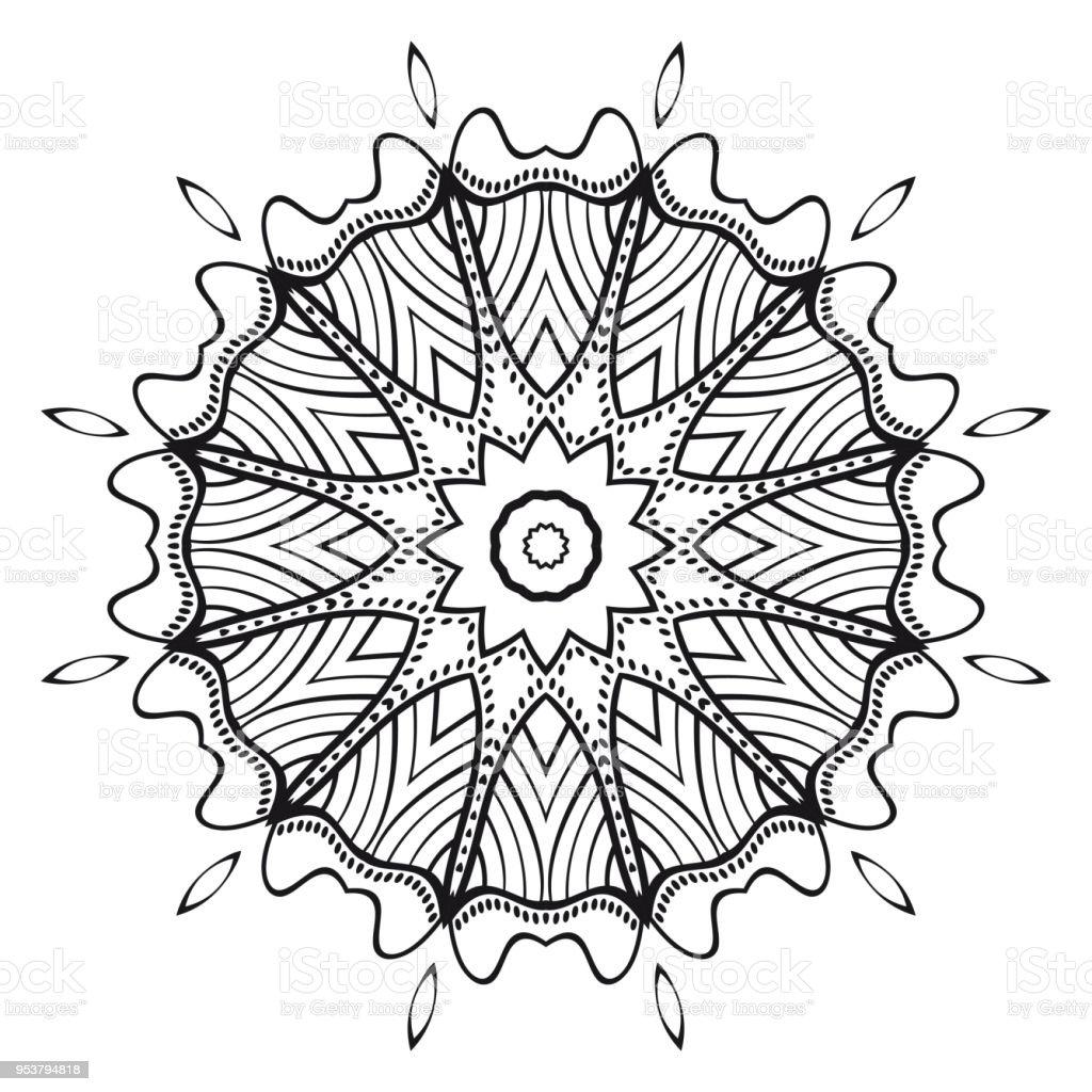 Floral Mandala Decorative Ornament Design For Print Fabric