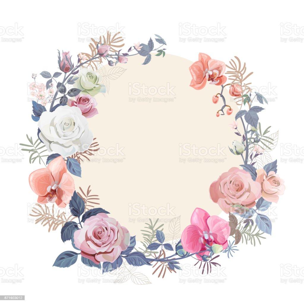 Blumenkranz Mit Strau Wei Rote Rose Rosa Orchideen
