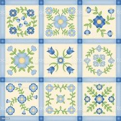quilt applique blocks patchwork flower vector istock abstract illustration istockphoto