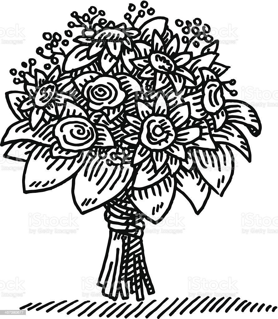 Blumenstrau Zeichnung Stock Vektor Art und mehr Bilder