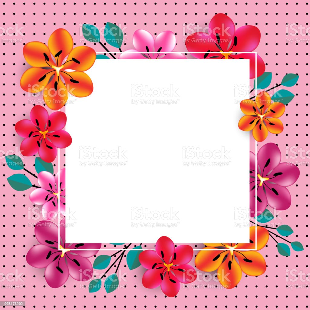 hight resolution of floral background border abstract plant pattern vector illustration bright