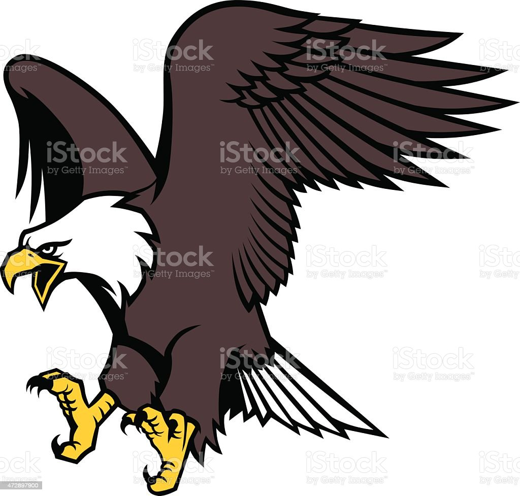 hight resolution of flying eagle mascot illustration