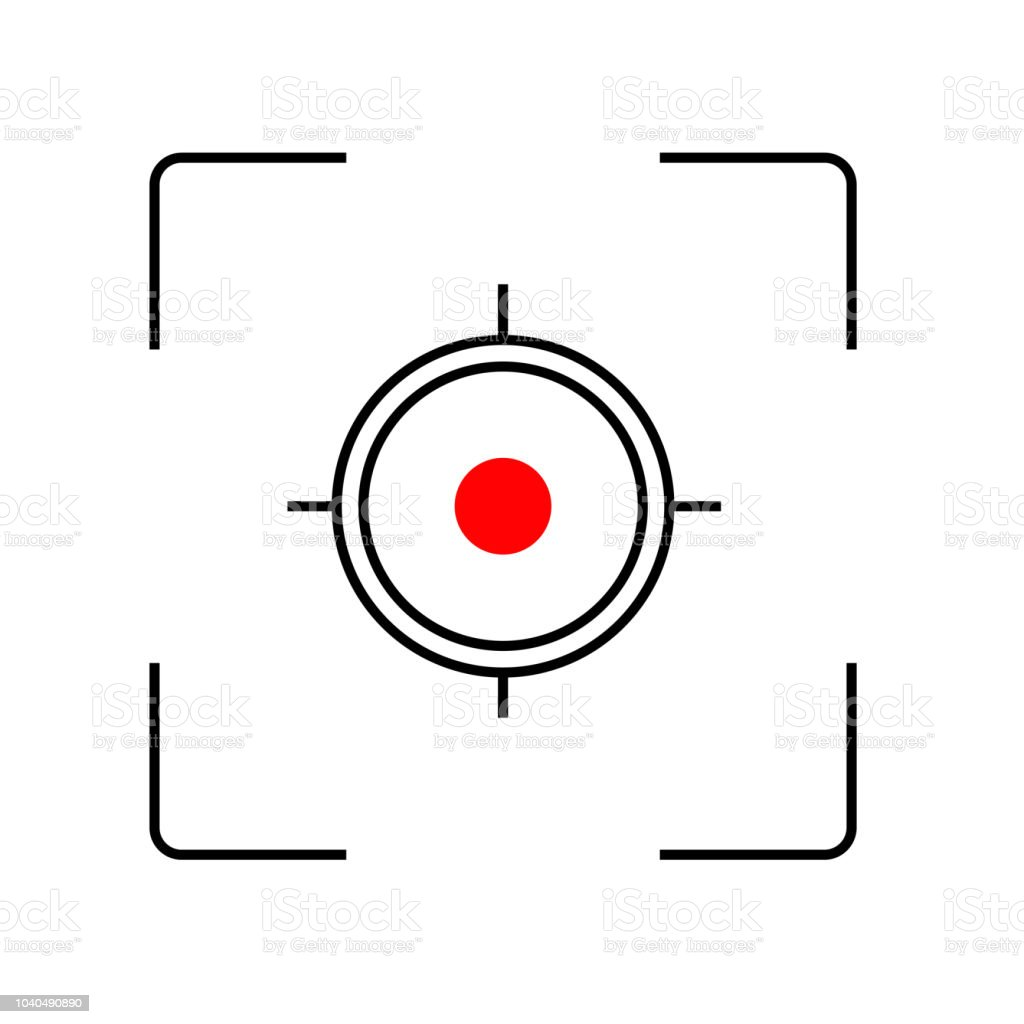 Focus In Lens Of Photo And Video Camera Stock Vector Art