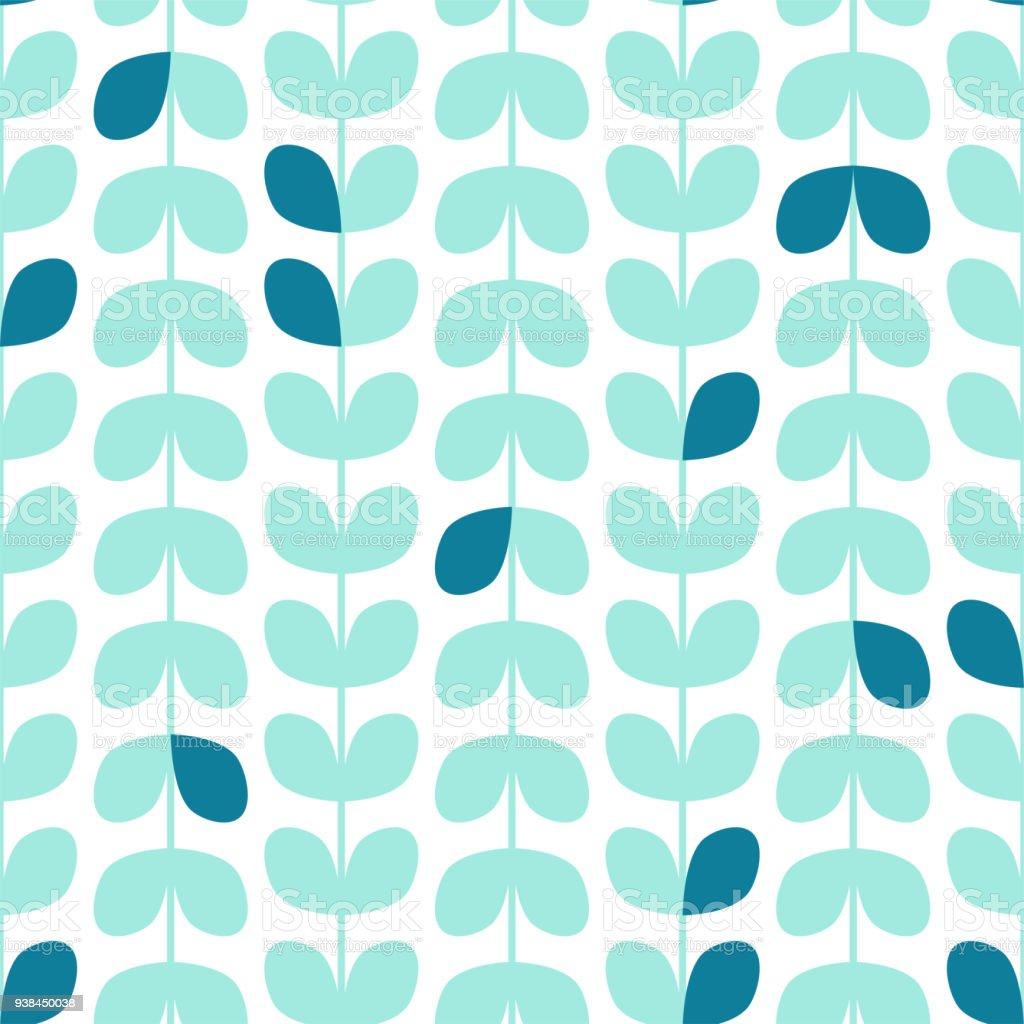 motif de feuillage texture vectorielle continue dans un style scandinave fond decran botanique sur fond blanc vecteurs libres de droits et plus d images vectorielles de abstrait istock