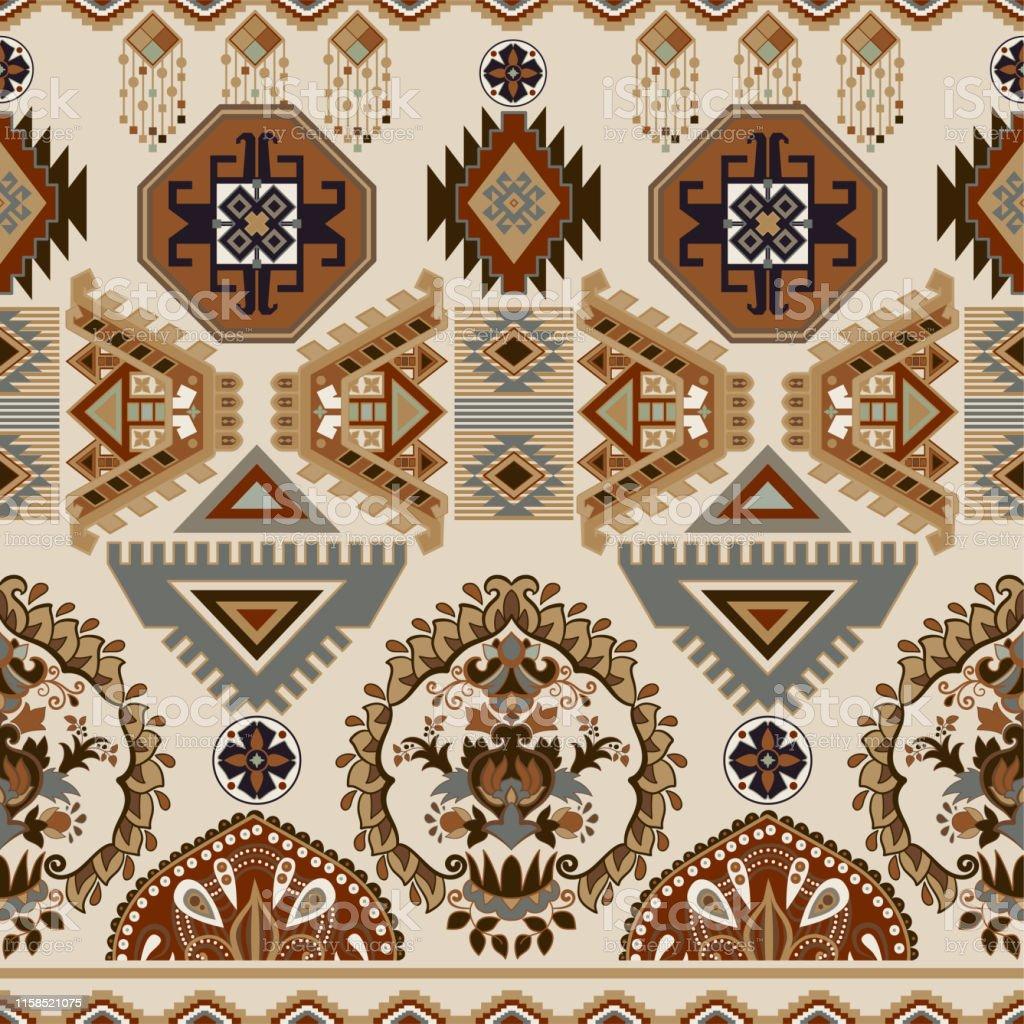 https www istockphoto com fr vectoriel motif ornemental populaire sans couture fond d c3 a9cran ethnique g c3 a9om c3 a9trique gm1158521075 316491399