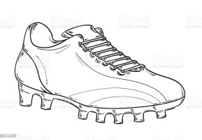 Football Boots Sketch Stock Vector Art & More Images of ...