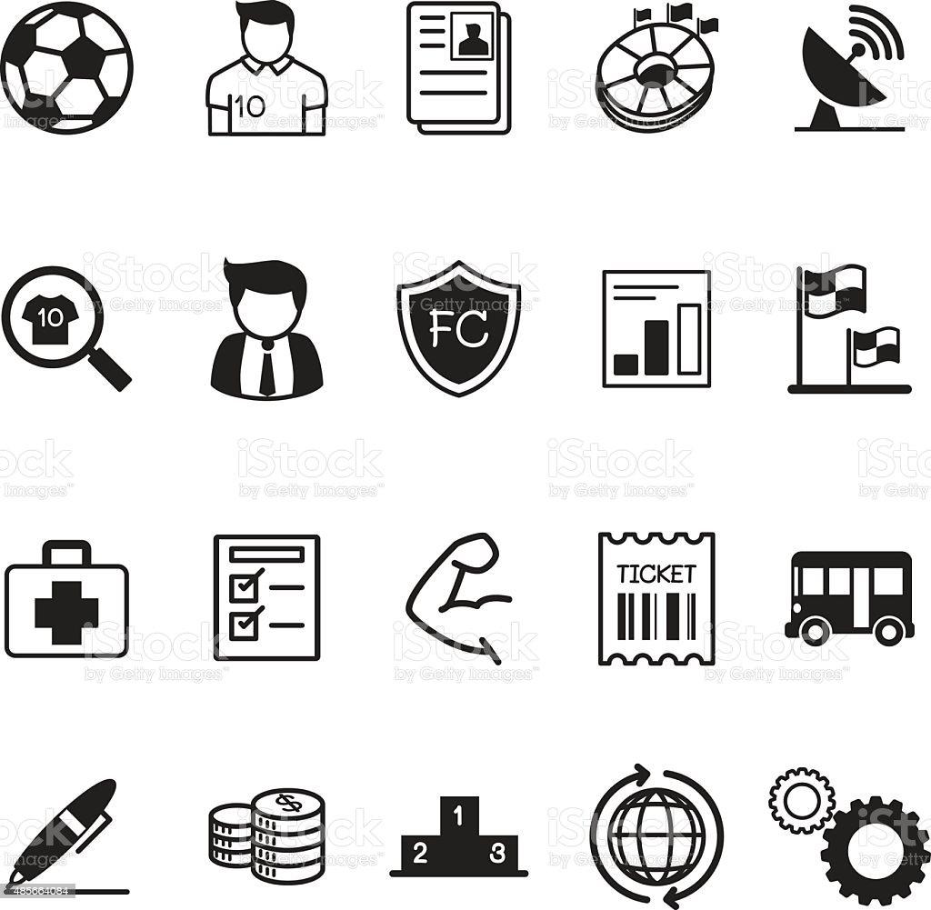 Football Soccer Club Business Icons Stock Vector Art