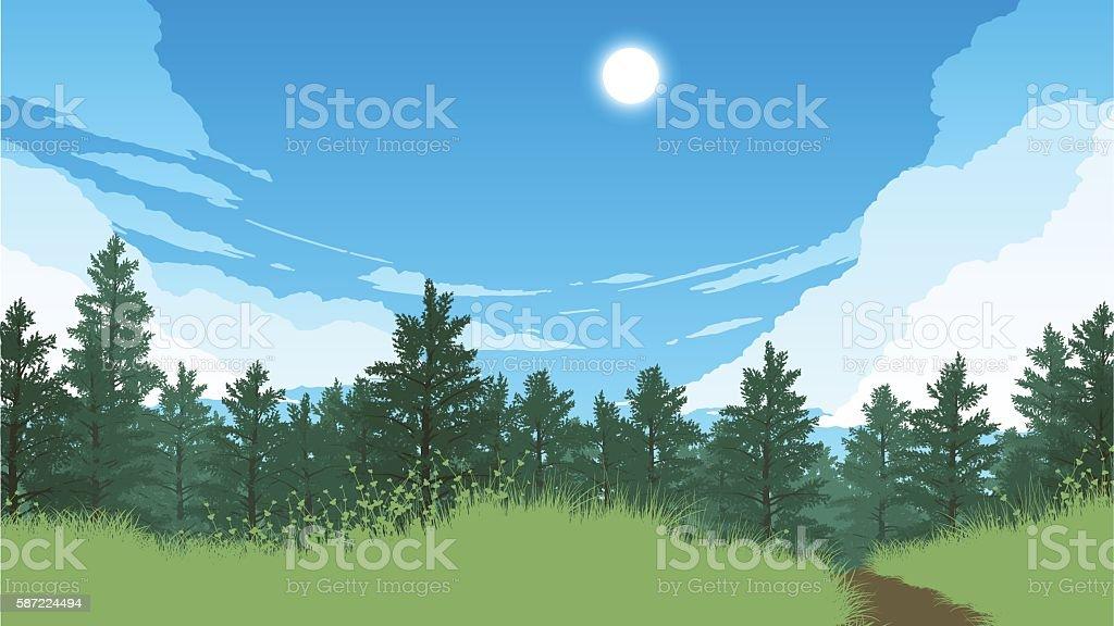Expertise to improve the appearance of any home or business, thus increasing its value. Forest Landscape Illustration Vektorgrafik Och Fler Bilder Pa Abstrakt Istock