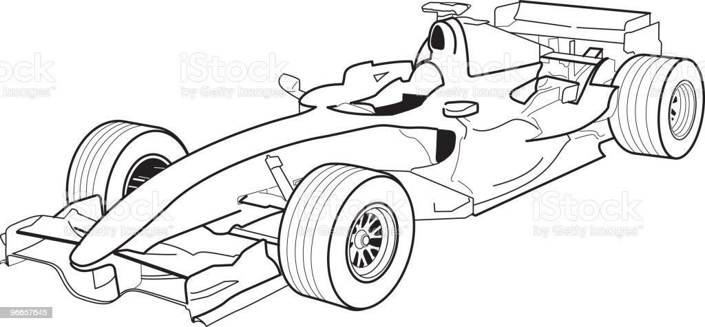 Formula 1 Stock Vector Art & More Images of Black Color