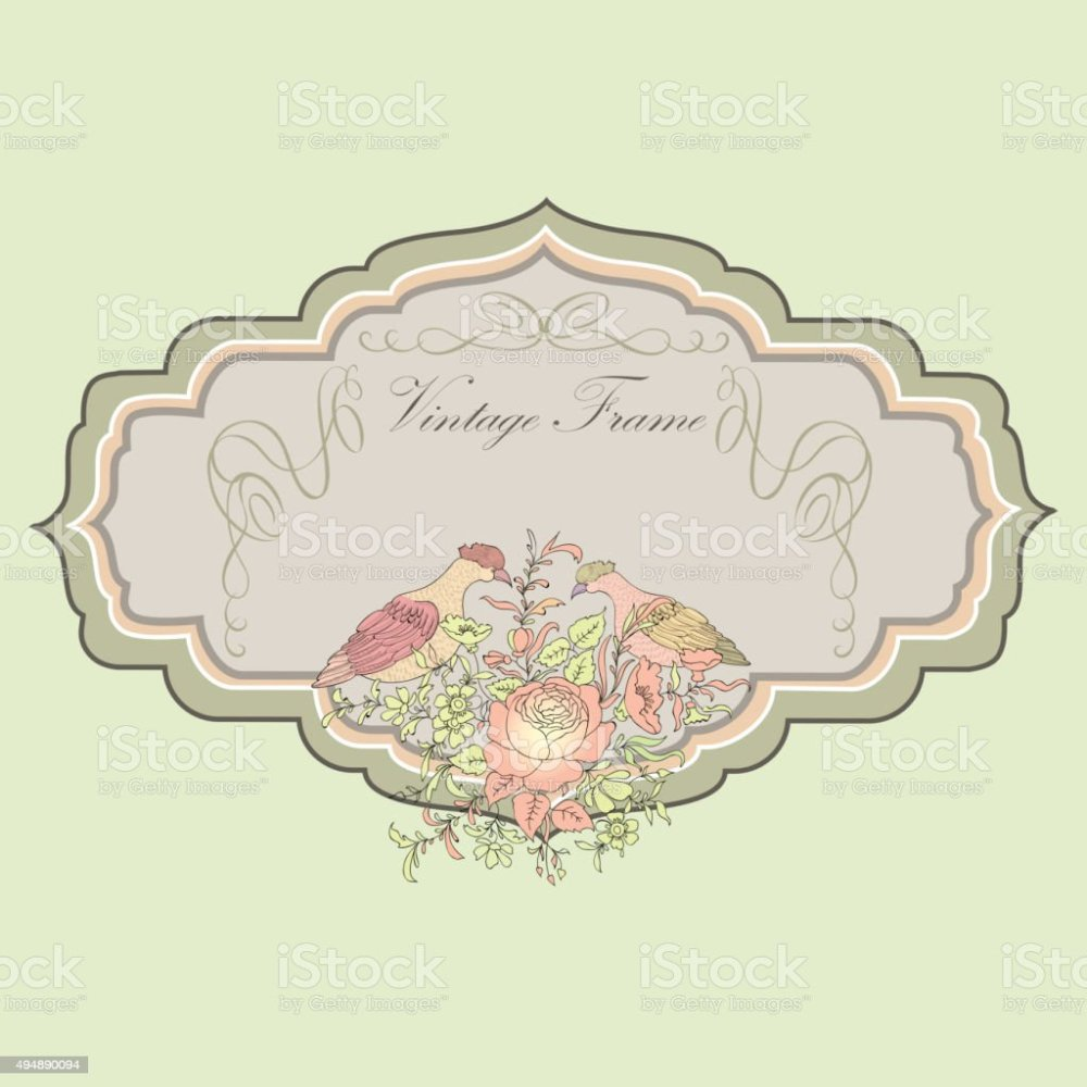 medium resolution of floral spring card birds and flowers vintage label illustration