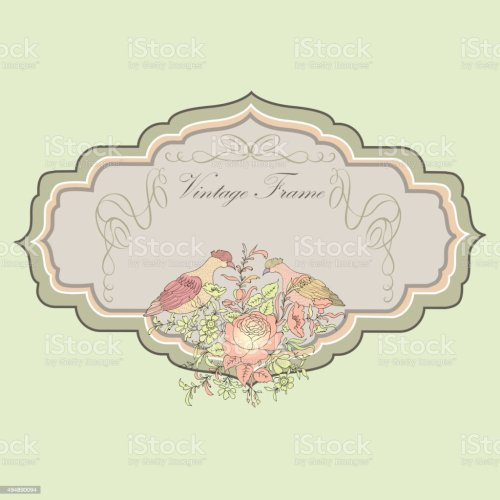 small resolution of floral spring card birds and flowers vintage label illustration