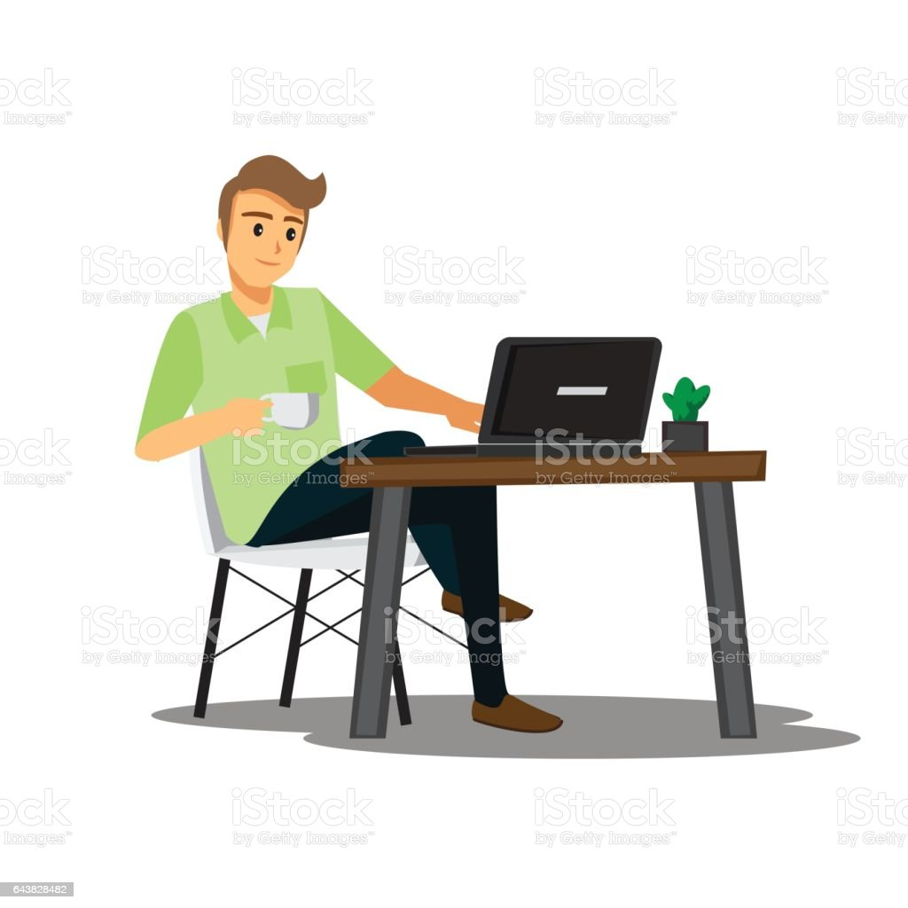 Royalty Free Freelancers Clip Art Vector Images