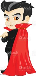 boy prince cloak clip vampire cartoon halloween little costume funny illustrations vector cartoons graphics