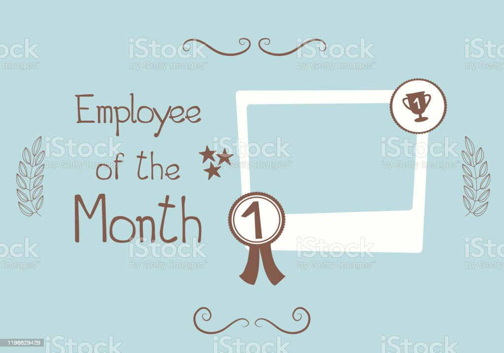 18 employee of the month frame illustrations clip art istock