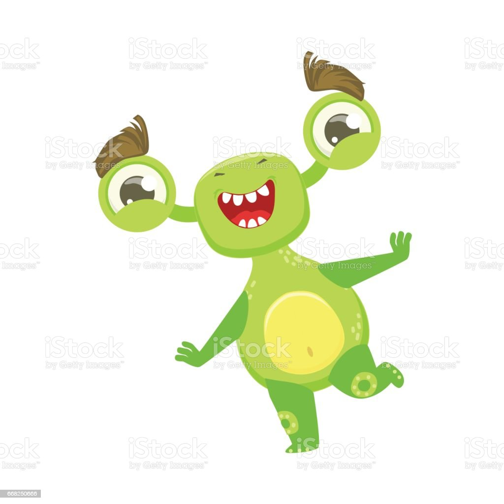 funny monster dancing and