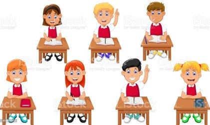 cartoon students learning funny illustration classmate vector boys vectors backgrounds