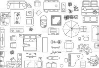 Furniture Floor Plan Stock Vector Art & More Images of