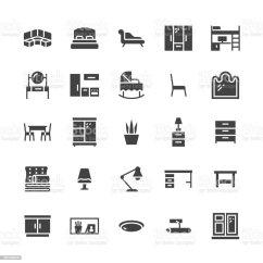 Home And Kitchen Stores Sanding Restaining Cabinets 傢俱向量平面字形圖示客廳臥室嬰兒床廚房角落沙發托兒所餐桌枕頭家庭照明 客廳 臥室 嬰兒床 廚房角落