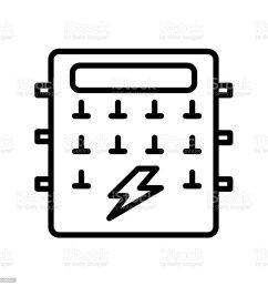 fuse box icon isolated on white background royalty free fuse box icon isolated on white [ 1024 x 1024 Pixel ]