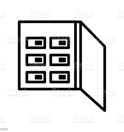 fuse box icon isolated on white background royalty free fuse box icon isolated on white [ 1024 x 1024 Pixel ]