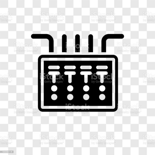 small resolution of fuse box vector icon isolated on transparent background fuse box transparency logo design royalty