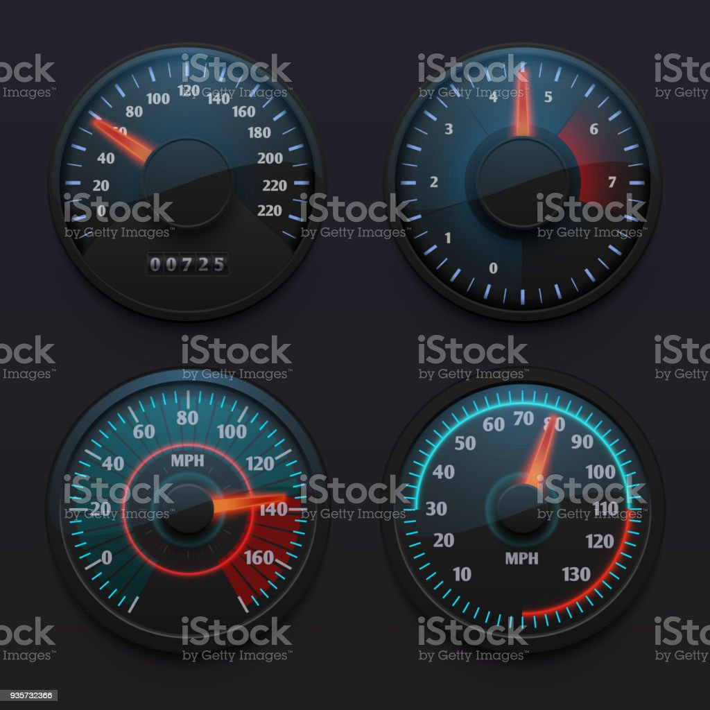 futuristic car speedometers speed