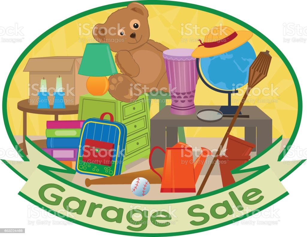 hight resolution of garage sale clipart ilustraci n de garage sale clipart y m s vectores libres de derechos de art culos