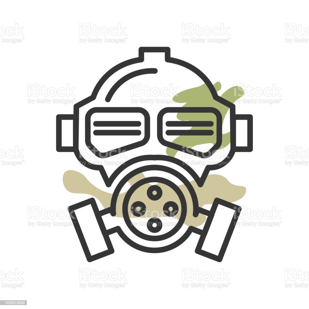 gas mask icon vector