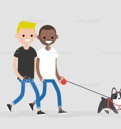 casal gay passeando com um cachorro vida di ria dos propriet rios do animal de estima o  [ 1024 x 820 Pixel ]