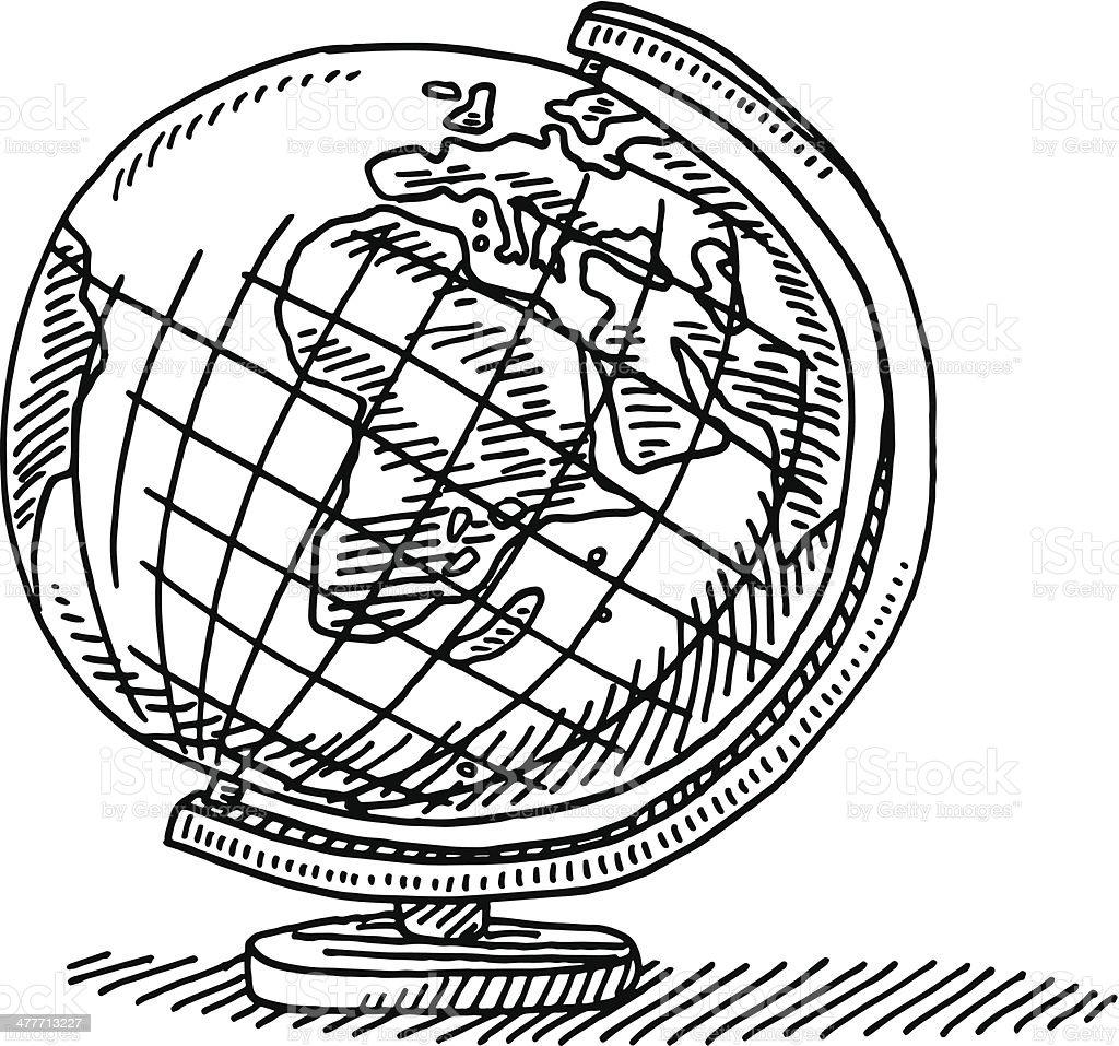Géographie Globe Dessin Stock Vecteur Libres de Droits