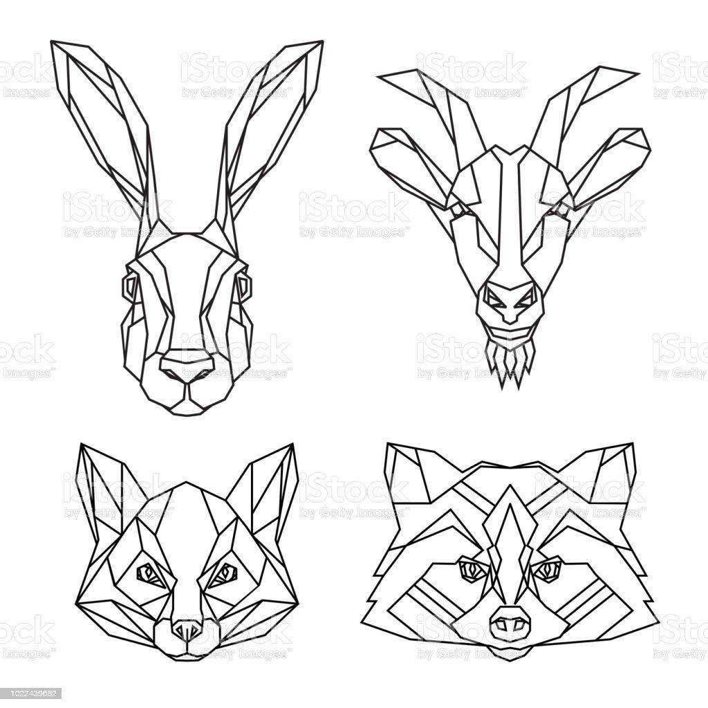 L Geometric Art Geometric Drawing Geometric Patterns Fox Art