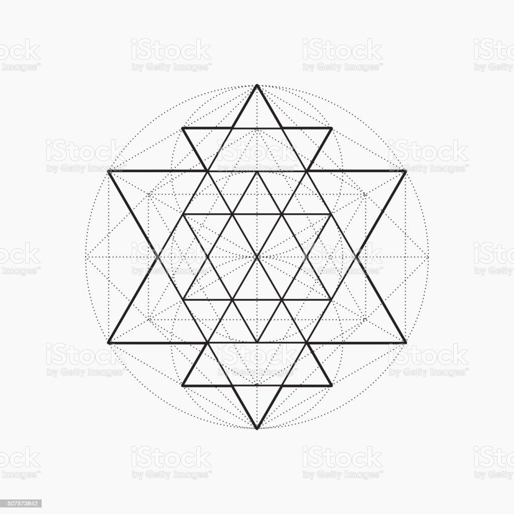 Geometric Shapes Line Design Triangle Stock Vector Art