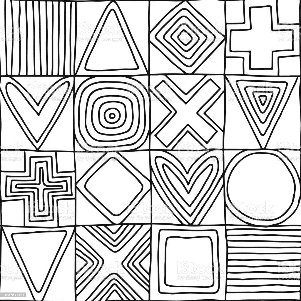 Geometrische Muster Zum Ausmalen - Malvorlagen Gratis
