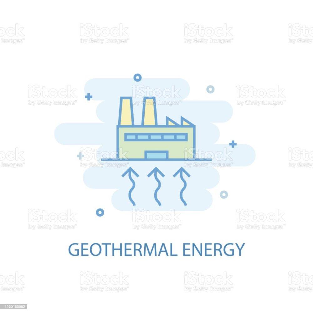 medium resolution of geothermal energy line trendy icon simple line colored illustration geothermal energy symbol flat